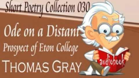 Ode on a Distant Prospect of Eton College Thomas Gray Audiobook Short Poetry