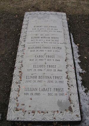 Robert Frost's grave - Bennington, VT