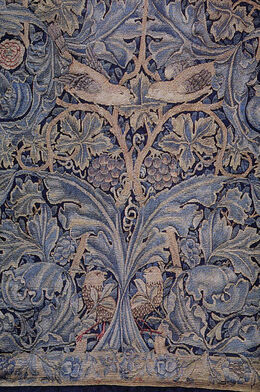 Morris Cabbage and Vine tapestry 1879
