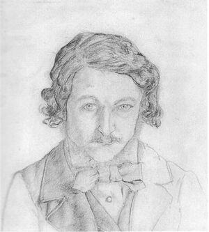 William morris self-portrait 1856