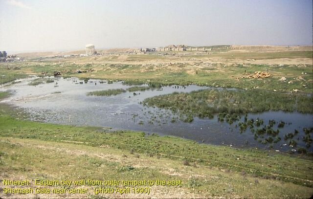 File:800px-Nineveh walls east Shamash Gate from rampart.JPG
