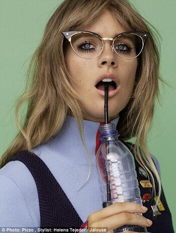 Beautiful Cressida in glasses