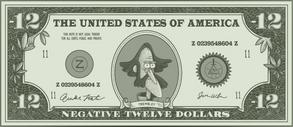 -12 dollar bill
