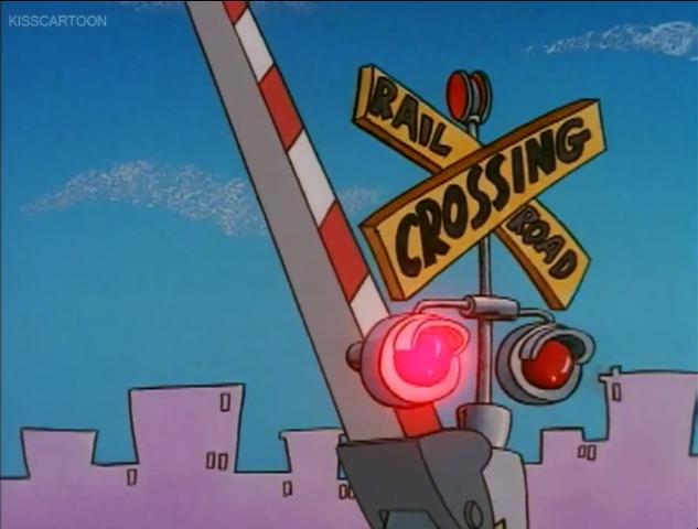 File:Railroad Crossing Cartoon Rocko's Modern Life Driving Mrs Wolfe 02.png