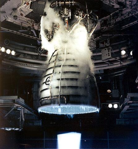File:Shuttle Main Engine Test Firing.jpg