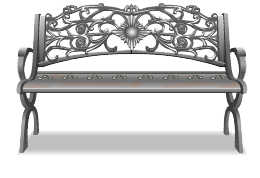 Forged iron street bench