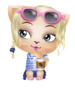 Girl Mini Buddy with Coffee