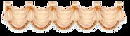 Tan Rococo Style Curtain Center