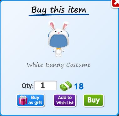 White bunny costume