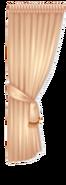 Tan Rococo Style Curtain Right