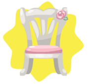 Elegant white chair
