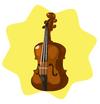 Wooden cello