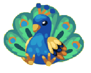 Magnificent peacock plushie