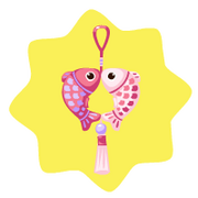 Pink fish lucky charm