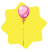 Cute pink balloon