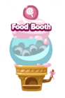 Food booth mystery egg machine