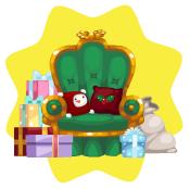 Toy shop santa chair