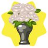 Rooftop terrace vase of flowers
