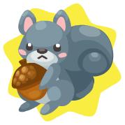Gray squirrel plushie