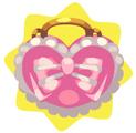Wearable pink heart handbag