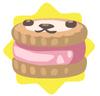 Pink petling biscuit