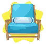 Summer house blue chair