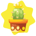 Yellow potted cactus