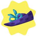 Purple bow hat