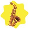 Brass saxophone