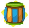 Carnival wooden barrel