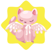 Angel cat plushie