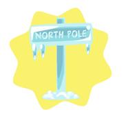 Frozen North Pole Sign Board