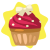 White ribbon cupcake