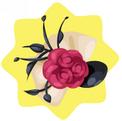 Red rose bonnet