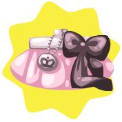 Rosy ribbon bag