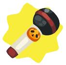 Cute halloween toy mic