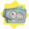 Fish fossil stone
