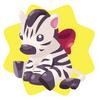 Cute zebra plushie