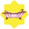 Rapunzel princess bath tub