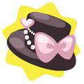 Cute pink ribbon hat