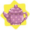 Rapunzel polka dot teapot