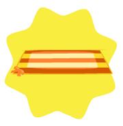 Orange striped beach towel