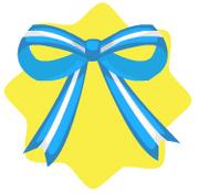 Blue bow ornament