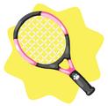 Pink tennis racket