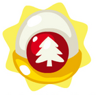 Holiday tree ornament mystery egg