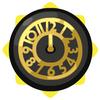 Vintage black and gold clock