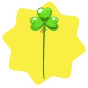 Light green shamrock balloon