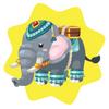 Jungle riding elephant