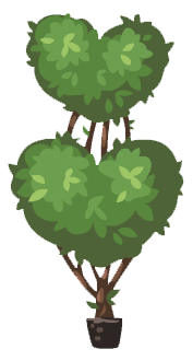 Double heart topiary