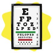 Hospital eye test poster